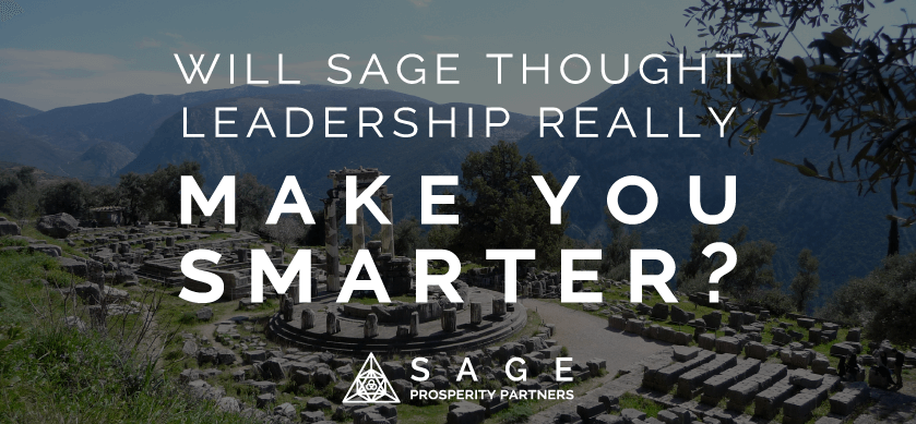 Will Sage Thought Leadership really make you smarter